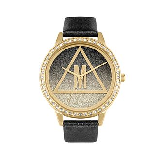 Missguided Glitter DIal Ladies' Black Glitter PU Strap Watch - Product number 8468559