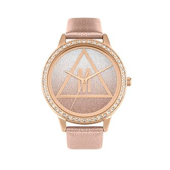 Missguided Glitter DIal Ladies' Rose Glitter PU Strap Watch - Product number 8468656