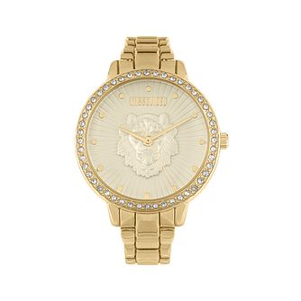 Missguided 3D Lion Crystal Gold Tone Bracelet Watch - Product number 8468761