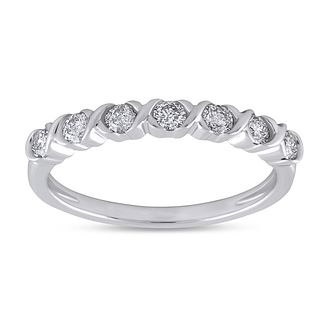 9ct White Gold 1/3ct Diamond Eternity Ring - Product number 8469024