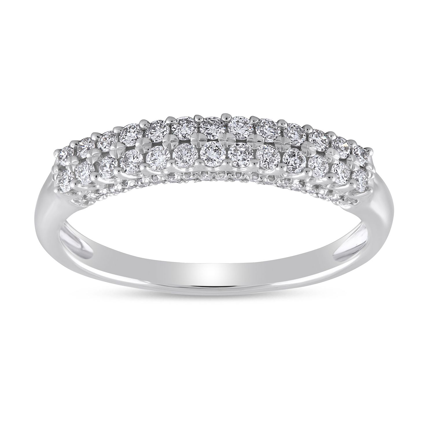 9ct White Gold 0.33ct Diamond Double Row Eternity Ring - Product number 8470561