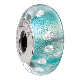 Chamilia - Radiance Murano glass & silver teal shimmer bead - Product number 8473072