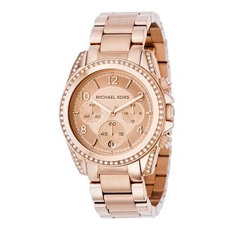 ecb904384467 Michael Kors Ladies  Rose Gold Chronograph Bracelet Watch - Product number  8473498