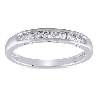 9ct White Gold 1/3ct Diamond Channel Set Eternity Ring - Product number 8478376