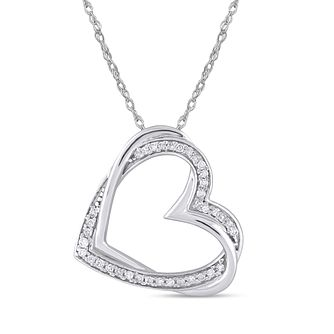 Silver 0.12ct Diamond Heart Twist Pendant - Product number 8496226