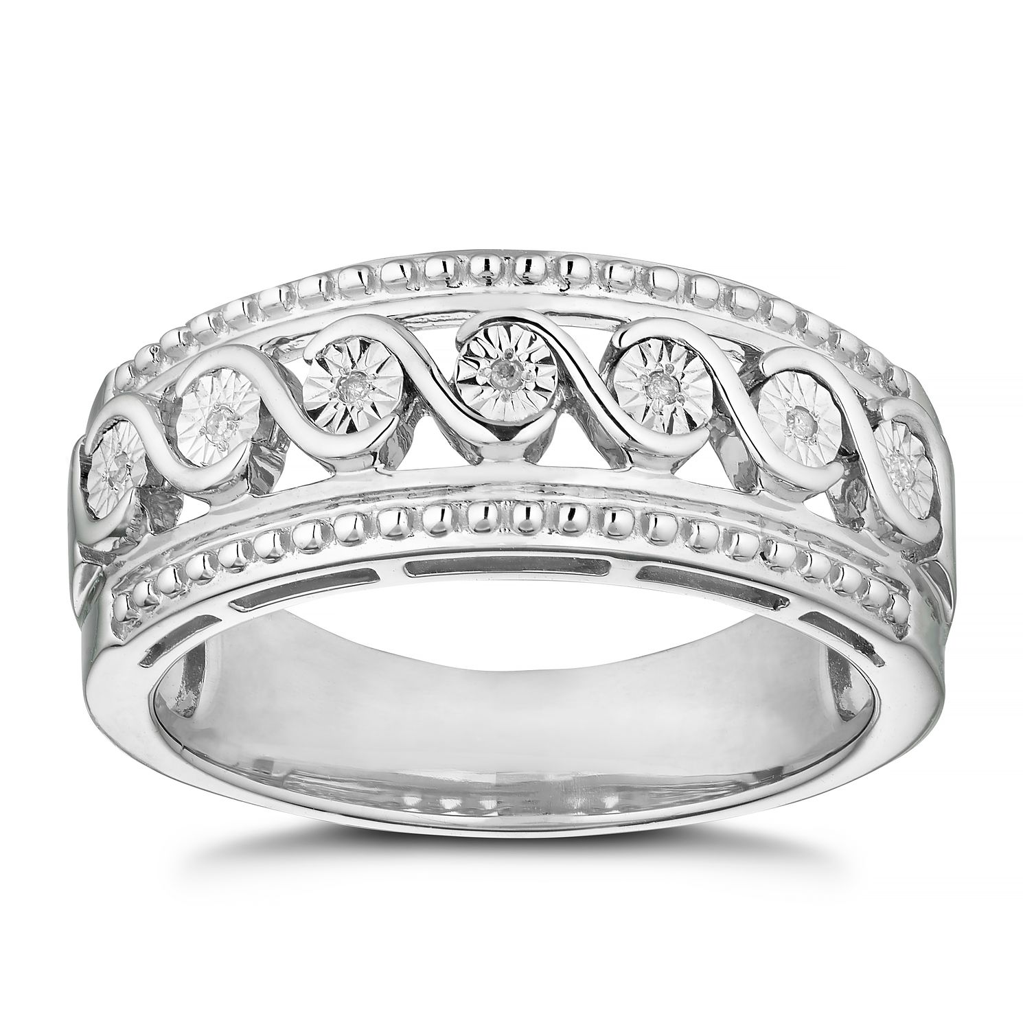 Silver Diamond Eternity Ring - Product number 8496536