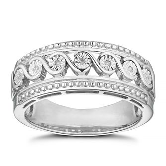 Sterling Silver Diamond Eternity Ring - Product number 8496536