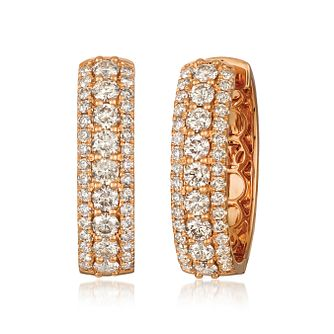 Le Vian 18ct Strawberry Gold Nude Diamond Hoop Earrings - Product number 8502293
