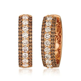 Le Vian 18ct Strawberry Gold Chocolate Diamond Hoop Earrings - Product number 8502307