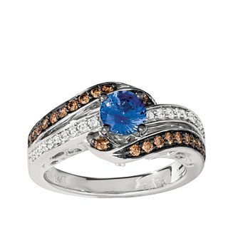 Le Vian 14ct Vanilla Gold Ceylon Sapphire Diamond Ring - Product number 8502323