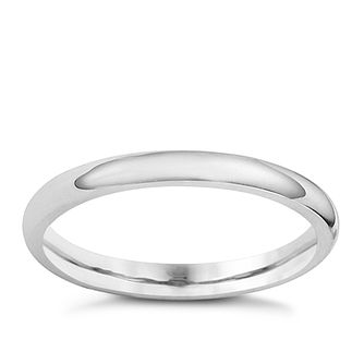 18ct White Gold 2mm Super Heavyweight Court Ring - Product number 8502900