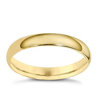 9ct Yellow Gold 3mm Extra Heavyweight Court Ring - Product number 8503354