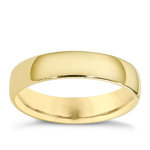 9ct yellow gold 4mm extra heavyweight court ring - Product number 8503583