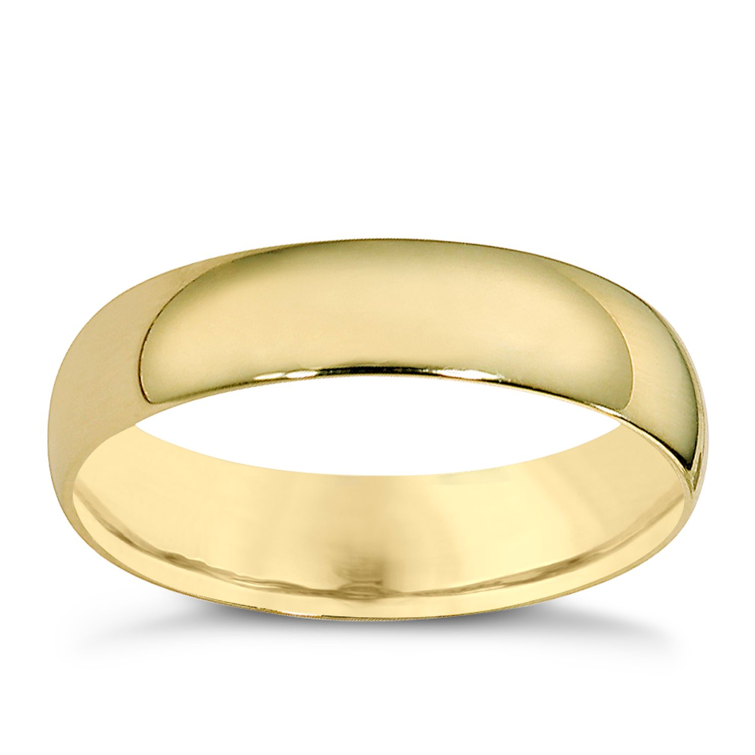9ct Yellow Gold 5mm Extra Heavyweight Court Ring - Product number 8504857