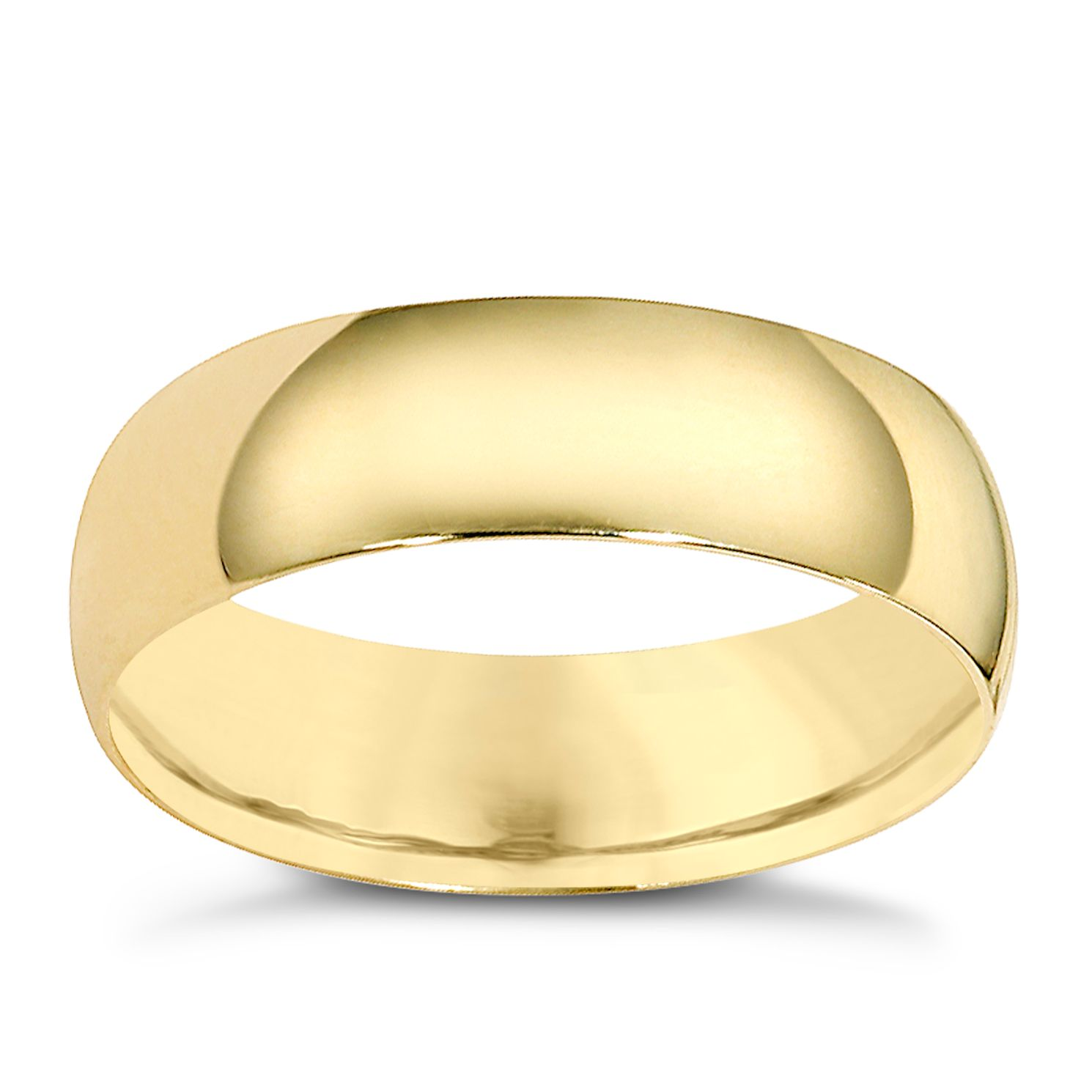 9ct Yellow Gold 6mm Extra Heavyweight Court Ring - Product number 8505187
