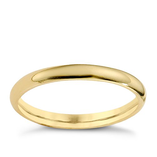 18ct yellow gold 2mm extra heavyweight court ring - Product number 8506841