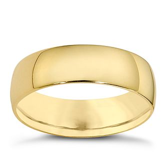 18ct Yellow Gold 6mm Extra Heavyweight Court Ring - Product number 8507368