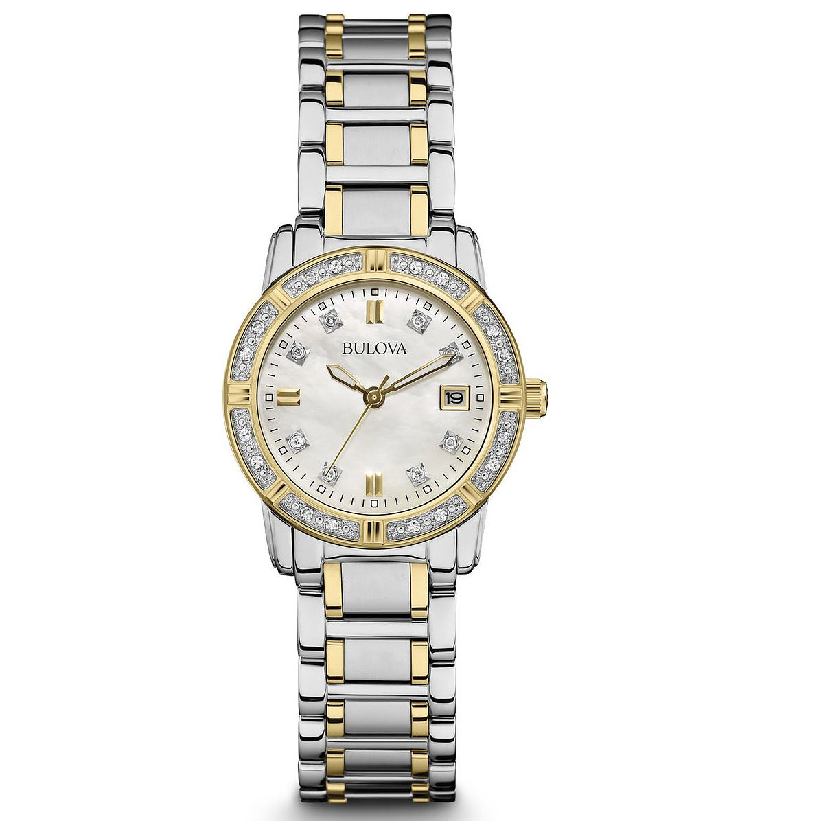 Bulova Ladies' Diamond Two Tone Bracelet Watch - Product number 8510318