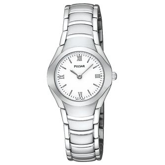 Pulsar Ladies White Dial Stainless Steel Bracelet Watch - Product number 8511772
