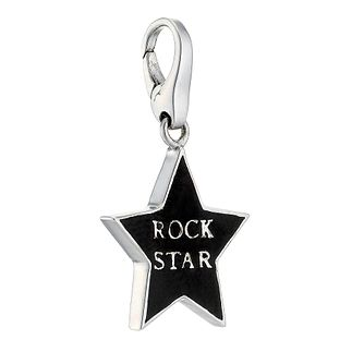 Lucky Charms - sterling silver and enamel 'rock star' charm - Product number 8516758