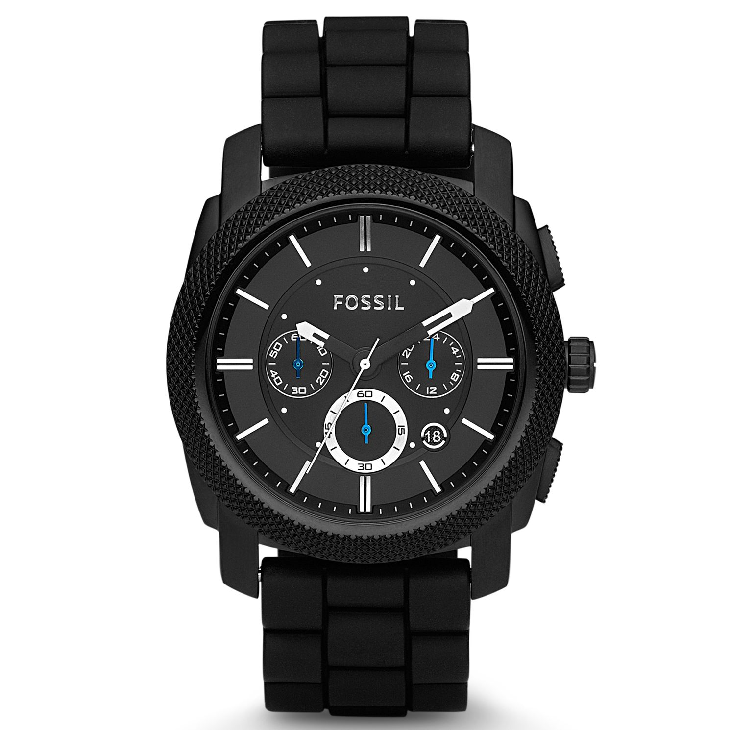 Fossil Men's Chronograph Black Rubber Strap Watch - Product number 8529884