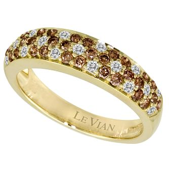 Le Vian 14ct Gold 0.76ct Vanilla & Chocolate Diamond Ring - Product number 8538174