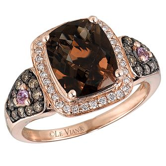 Le Vian 14CT Strawberry Gold Diamond & Quartz Ring - Product number 8538565