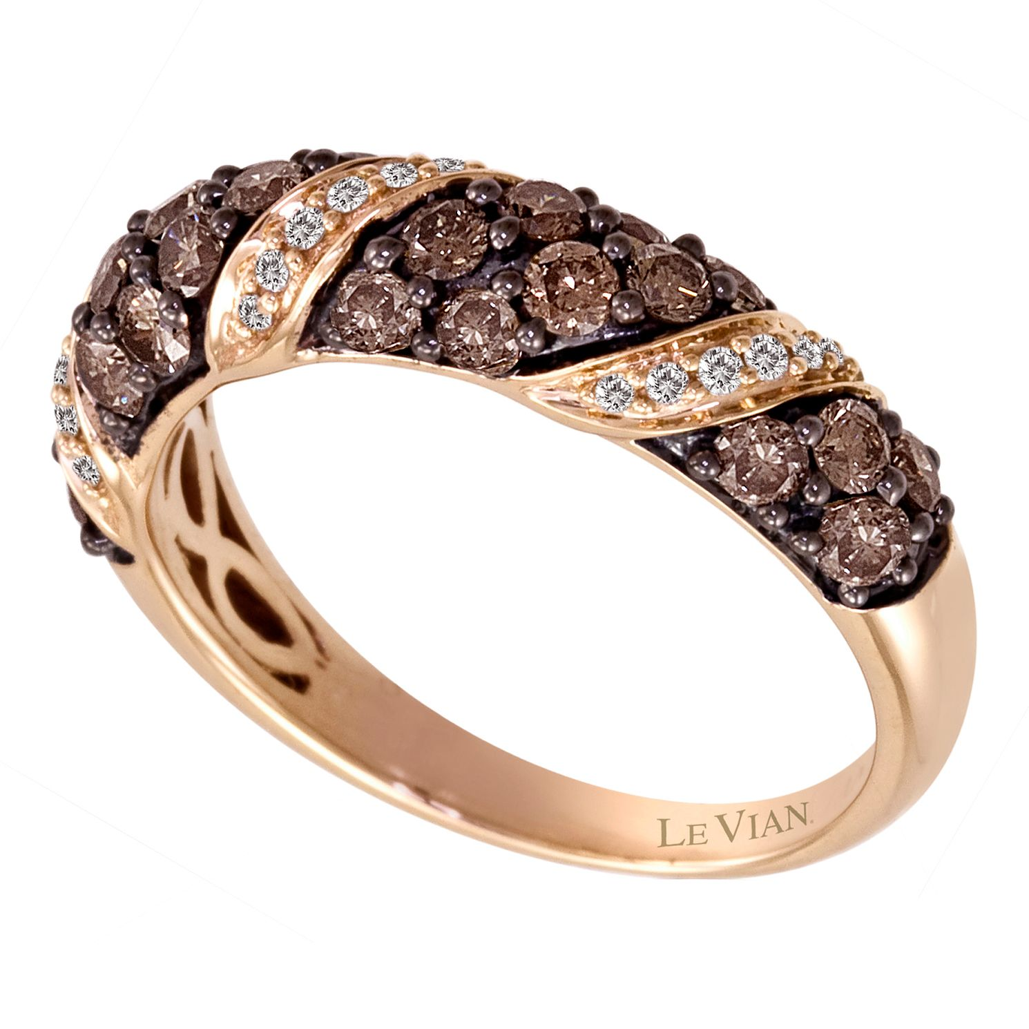 Le Vian 14ct Strawberry Gold 1 Carat Diamond Ring - Product number 8539634