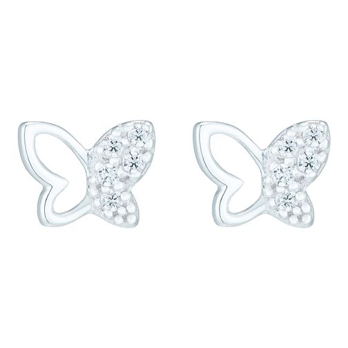 Sterling Silver Cubic Zirconia Butterfly Stud Earrings - Product number 8559244