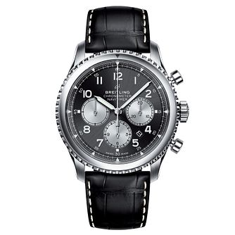 Breitling Navitimer 8 B01 Men's Black Leather Strap Watch - Product number 8559848