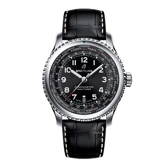 Breitling Navitimer 8 Unitime Men's Leather Strap Watch - Product number 8559961