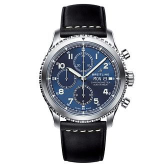 Breitling Navitimer 8 Men's Blue Chronograph Strap Watch - Product number 8561303
