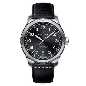 Breitling Navitimer 8 Men's Black Leather Strap Watch - Product number 8561338