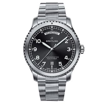 Breitling Aviator 8 Men's Stainless Steel Bracelet Watch - Product number 8561362