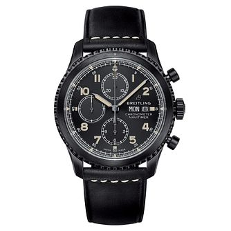 Breitling Aviator 8 Men's Chronograph Black Strap Watch - Product number 8561400