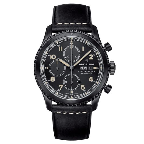 Breitling Navitimer 8 Men's Chronograph Black Strap Watch - Product number 8561400