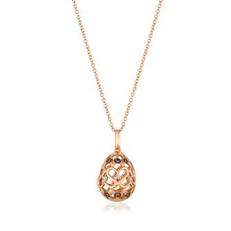 Le Vian 14ct Strawberry Gold Chocolate Diamond Egg Locket - Product number 8570140
