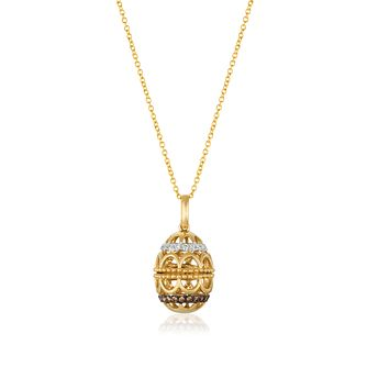 Le Vian 14ct Honey Gold Chocolate Diamond Egg Locket - Product number 8570159