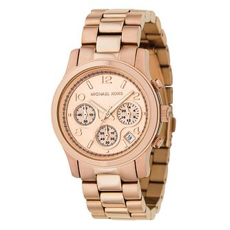 Michael Kors ladies' rose gold plated bracelet watch - Product number 8581185