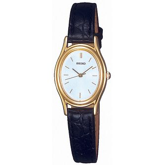Seiko Ladies' Black Strap Watch - Product number 8584230