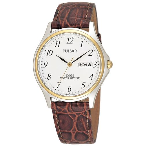 Pulsar Men's Brown Strap Watch - Product number 8588368