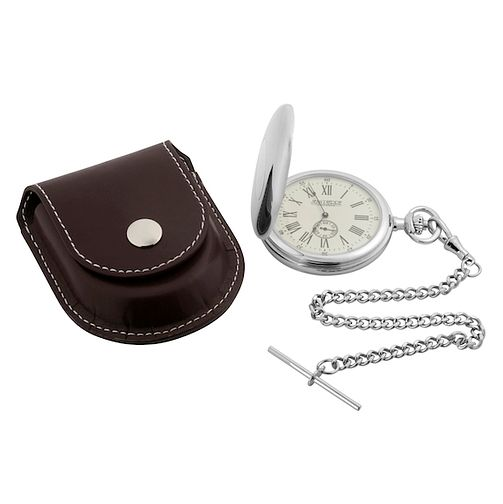 Hunter Men's Pocket Watch & Brown Leather Pouch - Product number 8588856