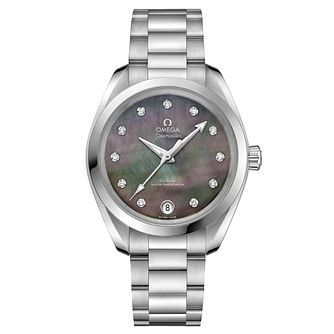 Omega Seamaster Ladies' Stainless Steel Diamond Watch - Product number 8588864