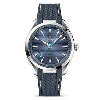 Omega Seamaster Aqua Terra Men's Grey Rubber Strap Watch - Product number 8588902