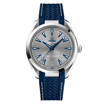 Omega Seamaster Aqua Terra Men's Blue Rubber Strap Watch - Product number 8588910
