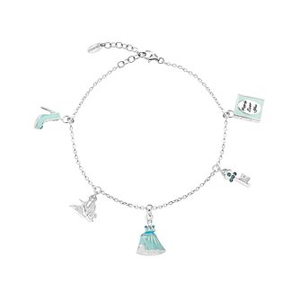 Disney Children's Cinderella Silver & Crystal Charm Bracelet - Product number 8590648