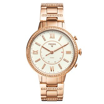 Fossil Rose Gold Plated Hybrid Smartwatch - Q Virginia - Product number 8591954