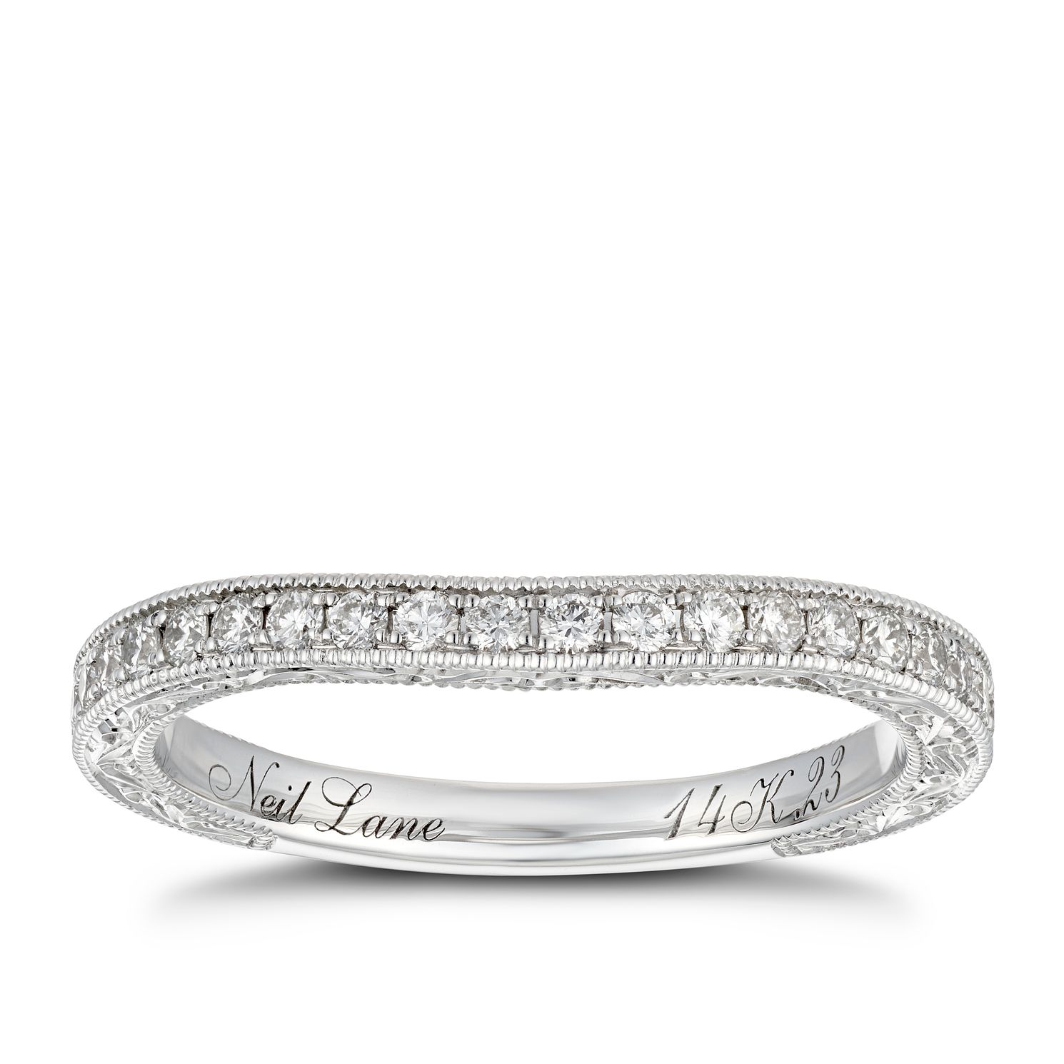 Neil Lane 14ct White Gold 0.23ct Diamond Shaped Band - Product number 8592713