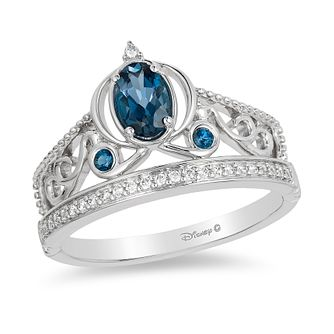 Enchanted Disney Silver, Diamond & Topaz Cinderella Ring - Product number 8595313