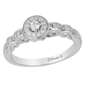 Enchanted Disney White Gold 1/5ct Diamond Cinderella Ring - Product number 8595690